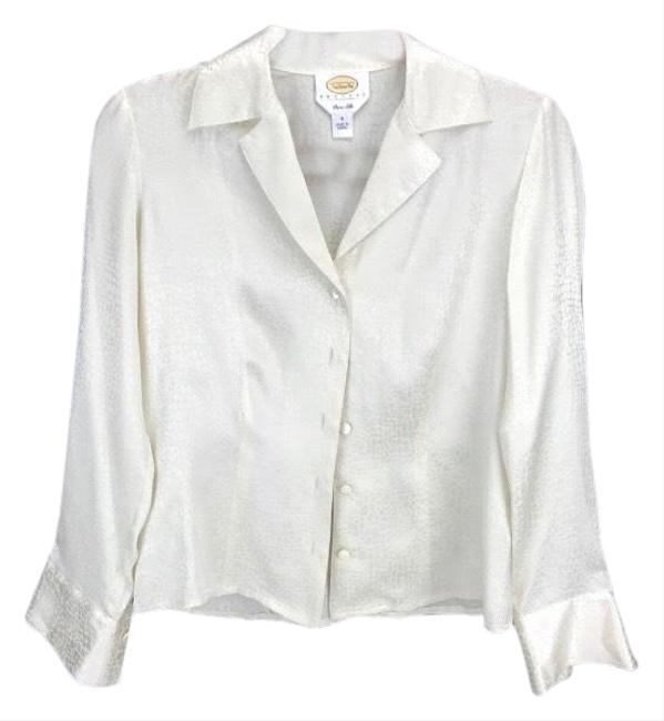 Preload https://img-static.tradesy.com/item/25765505/talbots-textured-ivory-silk-blouse-sweater-0-2-650-650.jpg