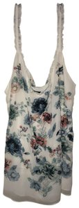 White House | Black Market Top white and blue floral
