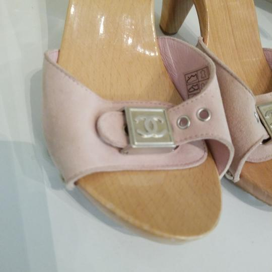 Chanel Pink Mules Image 1