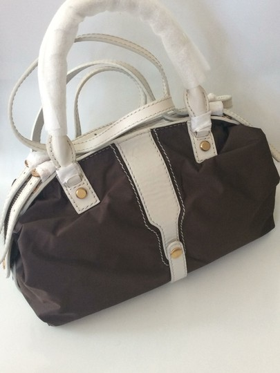 Joy Gryson Satchel in brown and white Image 1