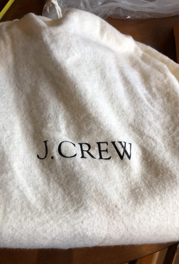 J.Crew Satchel in Black with grey fabric interior. Image 11