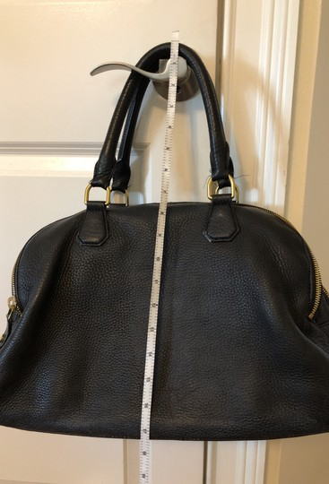 J.Crew Satchel in Black with grey fabric interior. Image 3