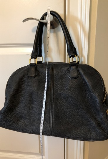 J.Crew Satchel in Black with grey fabric interior. Image 4