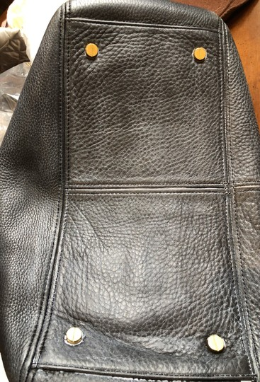 J.Crew Satchel in Black with grey fabric interior. Image 6