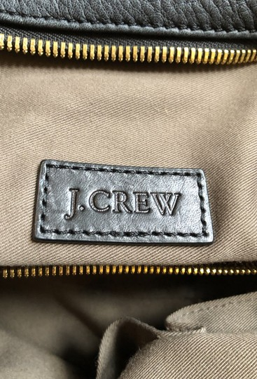 J.Crew Satchel in Black with grey fabric interior. Image 7