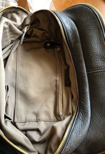 J.Crew Satchel in Black with grey fabric interior. Image 9