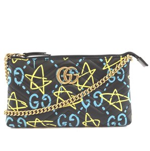 Gucci Marmont Ghost Gg Long Chain Cross Body Bag