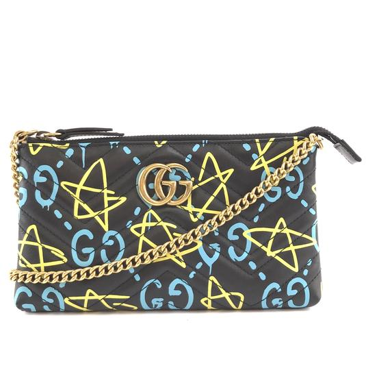 Preload https://img-static.tradesy.com/item/25765580/gucci-marmont-31506-rare-ghost-gg-logo-quilted-long-chain-black-yellow-blue-leather-cross-body-bag-0-1-540-540.jpg
