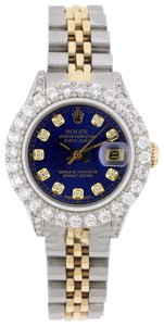 Rolex 2.8ct Ladies 26mm Datejust Gold & Stainless with Appraisal