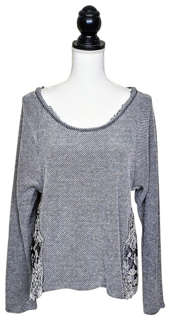 Preload https://img-static.tradesy.com/item/25765601/urban-outfitters-staring-at-stars-dark-gray-white-lace-sweater-0-1-650-650.jpg