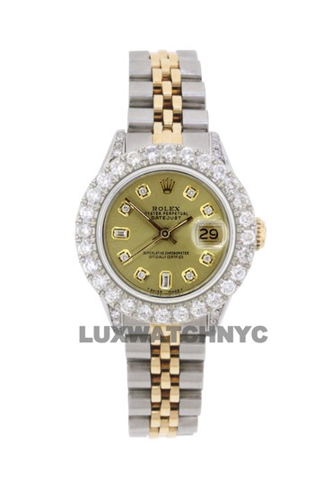 Rolex 2.8ct Ladies 26mm Datejust Gold & Stainless with Appraisal Image 8