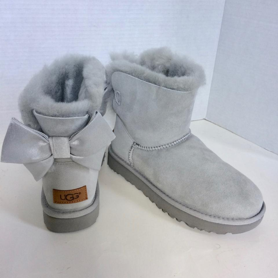 538c2b267ae UGG Australia Grey Mini Bailey Bow Ii Glam Boots/Booties Size US 8 Regular  (M, B) 12% off retail