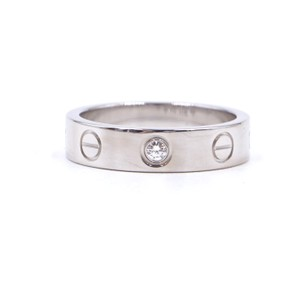 Cartier Rare 1p Diamond 18k Love Size 46 3.5mm wide Ring size 3.5