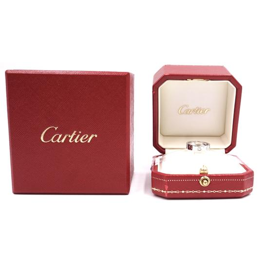 Cartier Rare 1p Diamond 18k Love Size 46 3.5mm wide Ring size 3.5 Image 2