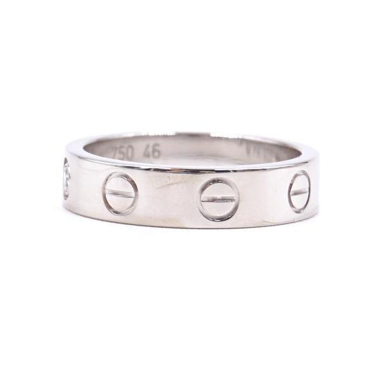 Cartier Rare 1p Diamond 18k Love Size 46 3.5mm wide Ring size 3.5 Image 4