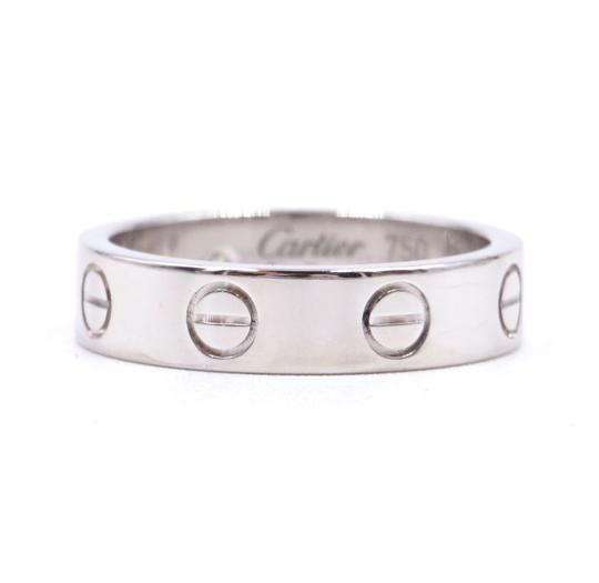Cartier Rare 1p Diamond 18k Love Size 46 3.5mm wide Ring size 3.5 Image 5