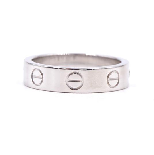 Cartier Rare 1p Diamond 18k Love Size 46 3.5mm wide Ring size 3.5 Image 6
