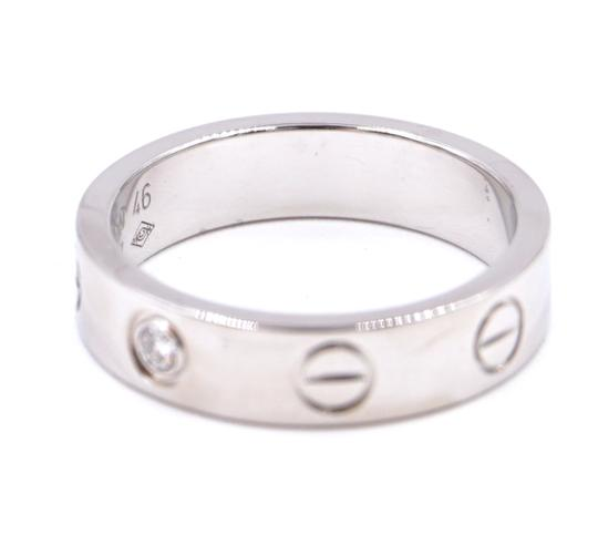 Cartier Rare 1p Diamond 18k Love Size 46 3.5mm wide Ring size 3.5 Image 7