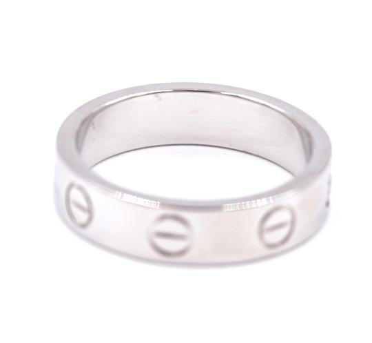 Cartier Rare 1p Diamond 18k Love Size 46 3.5mm wide Ring size 3.5 Image 8