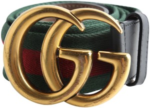 Gucci Gucci Web belt with Double G buckle