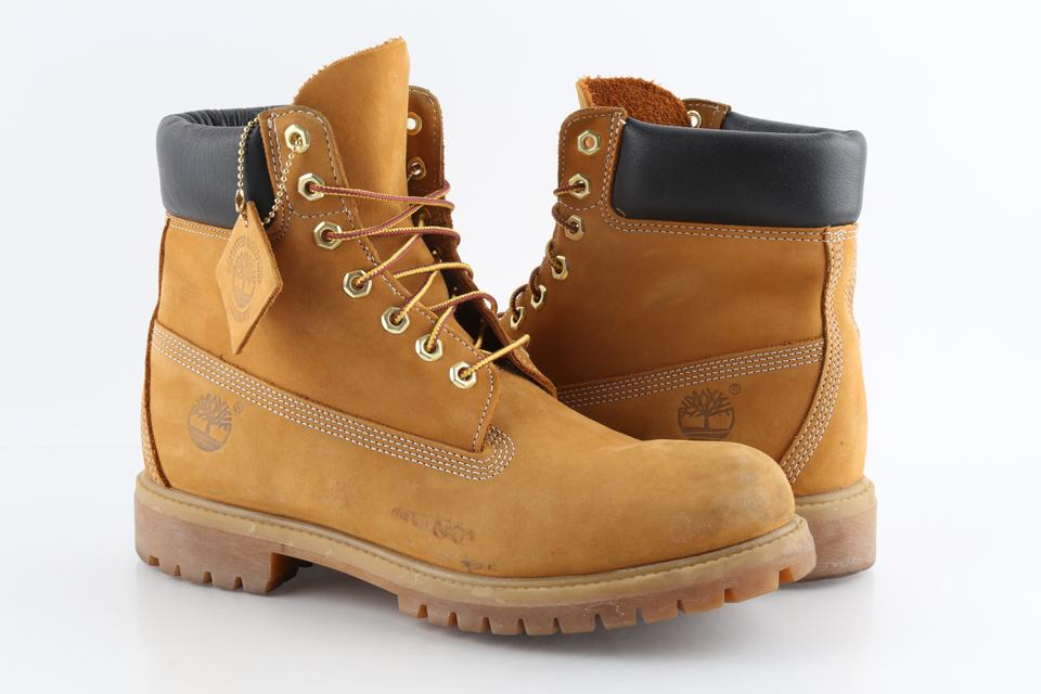 price reduced outlet 100% authentic Timberland Brown Wheat Nubuck 6 Inch Waterproof Boots Shoes 45% off retail