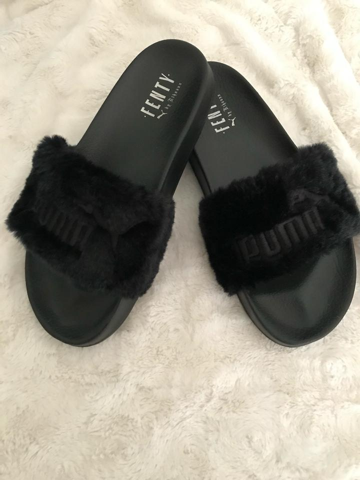 new style ea11e 0803f Black Leadcat Fenty Sandals