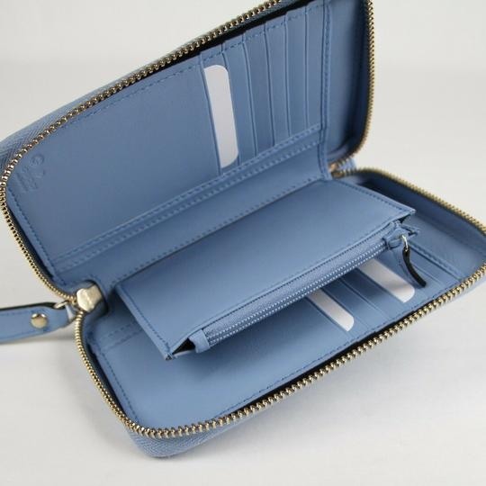 Gucci Light Blue Microguccissima Leather Zip Around Wallet 449423 4503 Image 6