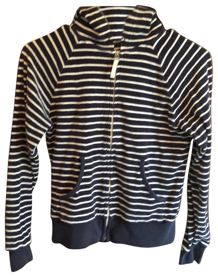 attractive & durable highly coveted range of fast color Uniqlo Navy and White Stripped Sweatshirt/Hoodie Size 4 (S)