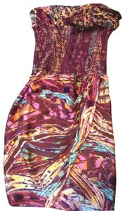 Catherine Malandrino short dress Bahia or purple, brown and yellow on Tradesy