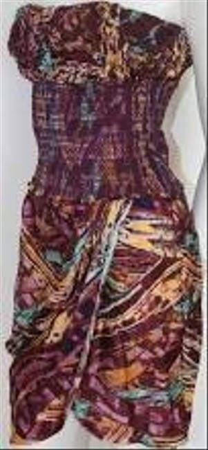 Catherine Malandrino short dress Bahia or purple, brown and yellow on Tradesy Image 5