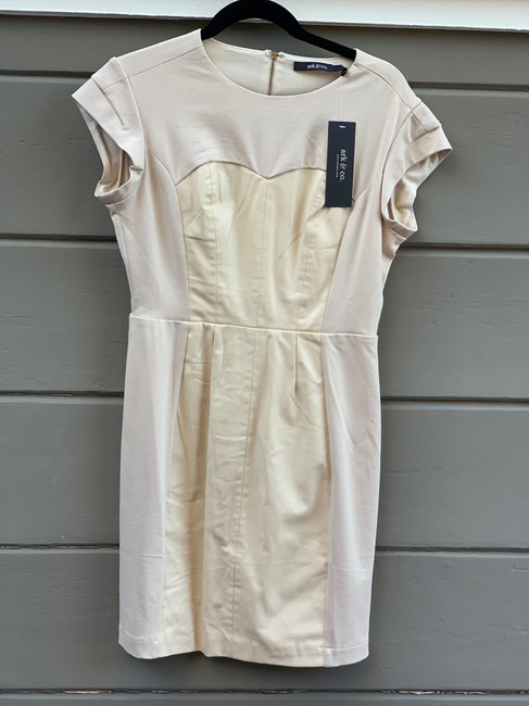 Preload https://img-static.tradesy.com/item/25766671/ark-and-co-ecru-cotton-short-workoffice-dress-size-8-m-0-0-650-650.jpg