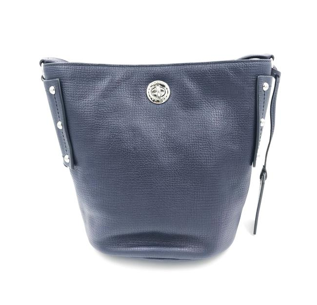 Item - Bucket C Lock Women's Navy Blue Leather Cross Body Bag