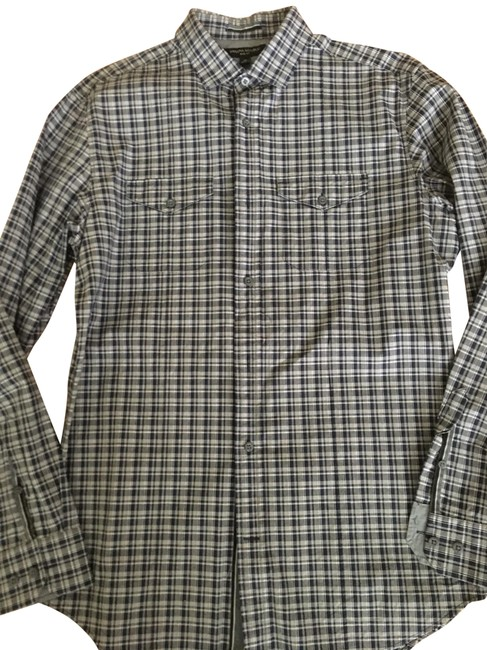 Preload https://img-static.tradesy.com/item/25766803/banana-republic-blues-and-greys-plaid-button-down-top-size-8-m-0-1-650-650.jpg