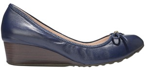 Cole Haan Blue and Brown Wedges