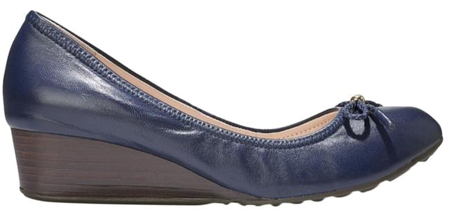 Item - Blue and Brown Leather Tali Grand Wedges Size US 7 Regular (M, B)