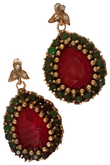 Preload https://img-static.tradesy.com/item/25766860/vintage-exquisite-feminine-red-ruby-emerald-solid-sterling-silver-earrings-0-1-540-540.jpg