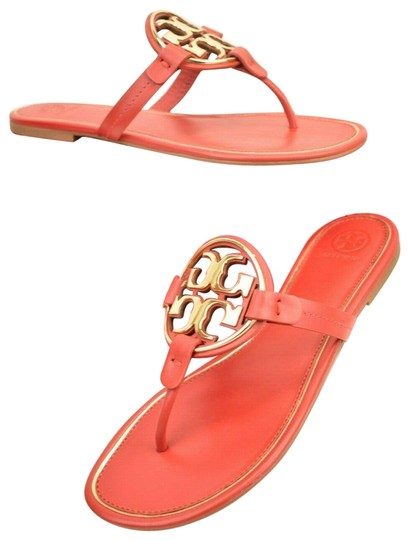 Preload https://img-static.tradesy.com/item/25766865/tory-burch-red-metal-miller-brilliant-reva-leather-thong-sandals-flats-size-us-95-regular-m-b-0-1-540-540.jpg