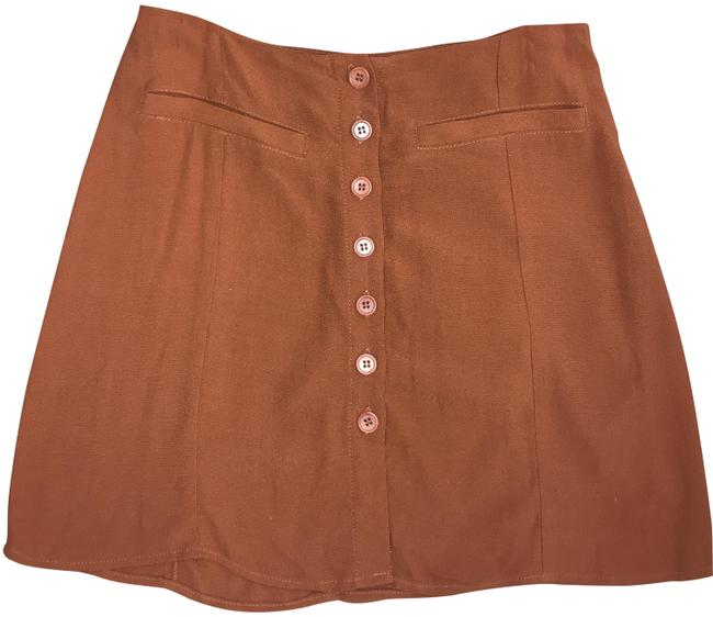 Preload https://img-static.tradesy.com/item/25766909/reformation-brown-retro-skirt-size-4-s-27-0-1-650-650.jpg