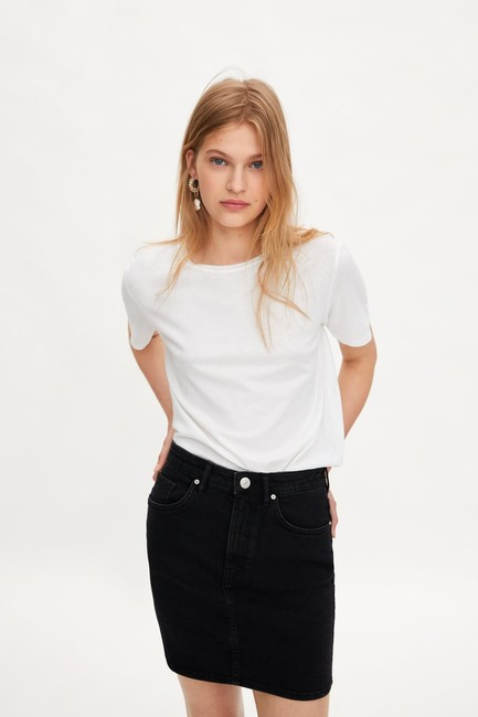 Zara Mini Skirt Black Image 3