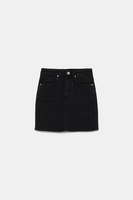 Zara Mini Skirt Black Image 7