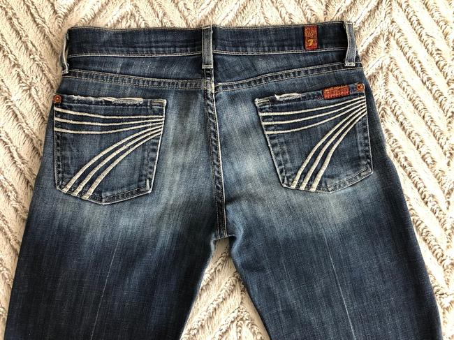 7 For All Mankind Flare Leg Jeans-Distressed Image 2