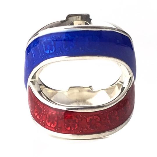 Gucci NEW GUCCI Garden Sterling Silver Enamel Ring, Sz. 5US Image 3