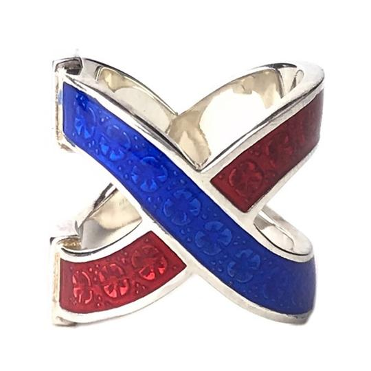 Gucci NEW GUCCI Garden Sterling Silver Enamel Ring, Sz. 5US Image 4