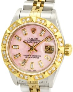 Rolex Rolex Lady Datejust Pink MOP Diamond Dial Diamond Bezel 26mm- Quickset