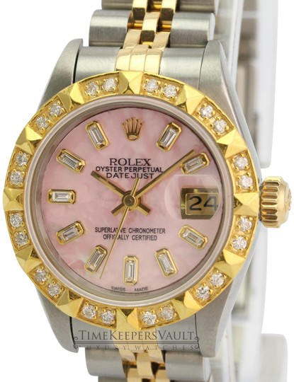 Rolex Rolex Lady Datejust Pink MOP Diamond Dial Diamond Bezel 26mm- Quickset Image 1
