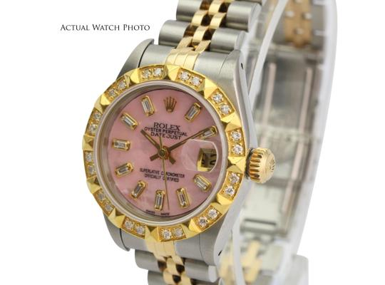 Rolex Rolex Lady Datejust Pink MOP Diamond Dial Diamond Bezel 26mm- Quickset Image 2