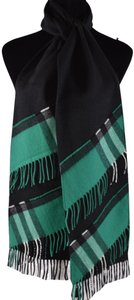 Burberry New Burberry Cashmere Patchwork Black Green Nova Check Scarf