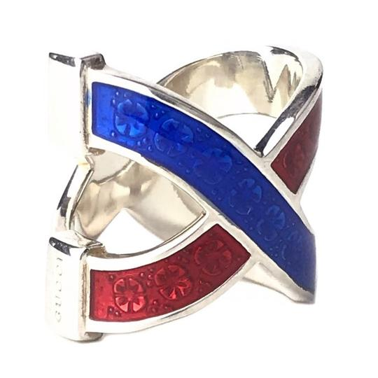 Gucci NEW GUCCI Garden Sterling Silver Enamel Ring, Sz. 8.75US Image 5