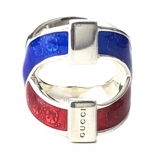 Gucci NEW GUCCI Garden Sterling Silver Enamel Ring, Sz. 8.75US Image 6