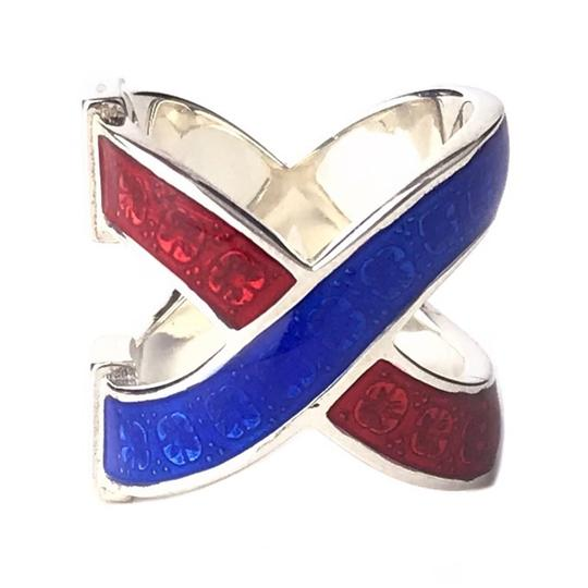 Gucci NEW GUCCI Garden Sterling Silver Enamel Ring, Sz. 5.25 US Image 1
